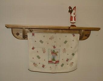 Quilt Towel Bar Shelf Quilt Hanging Shelf Country Amish Primitive
