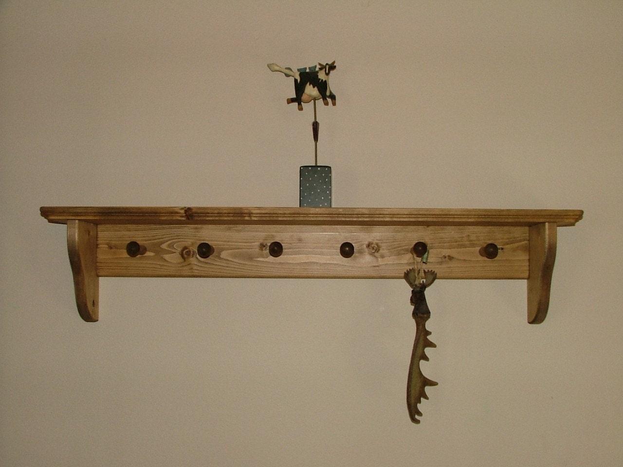 Wall Mounted Coat Shelf Shaker Peg Wall Shelf Coat Hanger