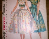 1950s 1960s Simplicity Printed Pattern 1616, Full Skirt Dress Size 11