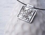 Woodland oak leaves pendant custom made to order