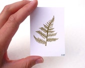 Fern painting, original watercolor painting on ACEO card