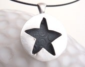 Autumn star pendant, made from fine silver