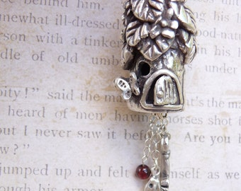 Fairy house, custom made to order from fine silver