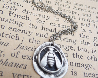 Bee wax seal pendant, custom made to order in fine silver Winnie the Pooh Disneybounding