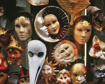 ACEO, Carnival Masks, Venice, Italy