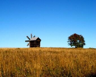 Windmill on Kizhi Island, Karelia Republic, Russia