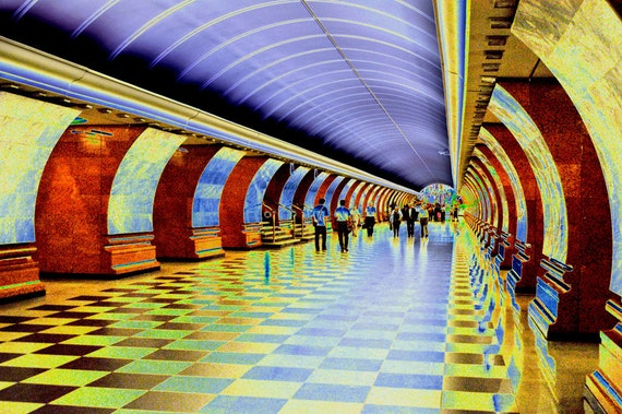 Moscow Subway Station, Photo printed full-frame on 8x10
