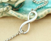 Infinity necklace-everlasting lover karma necklace, gift for BFF, girl friend, wife