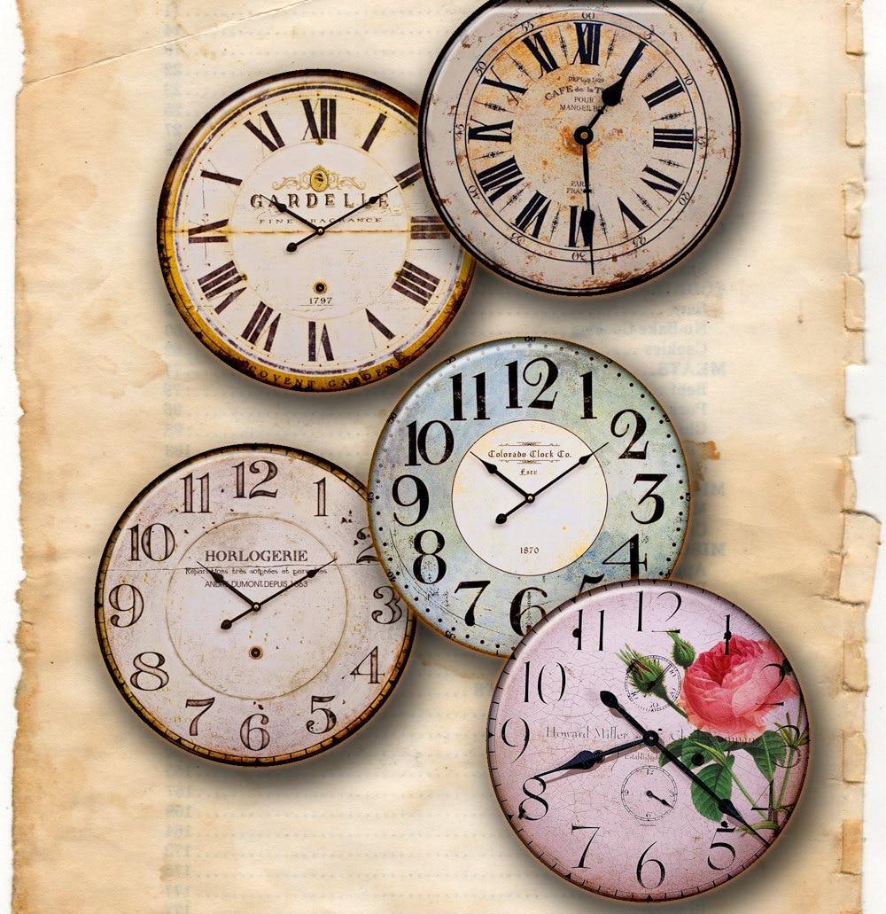 Clocks old vintage retro antique shabby chic style - Estilo shabby chic ...