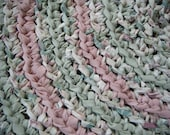 Pink and Green Area Rug
