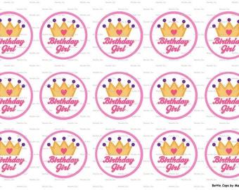 "15 Birthday Girl Images Digital Download for 1"" Bottle Caps (4x6)"