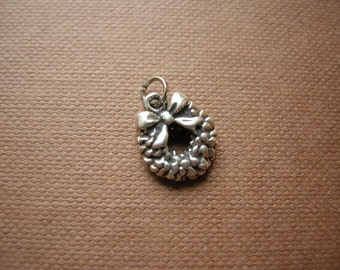 Sterling silver Christmas Wreath pendant