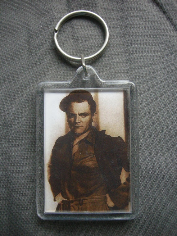 JAMES CAGNEY brown sepia photo keychain