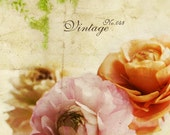 Etsy Shop Banner Set - Flowers On Vintage Paper Etsy Banner Shop Icon Set