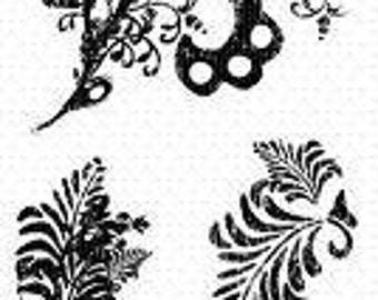 """Fiskars Frond Flourish - 4"""" x 8"""" Clear Stamps by Fiskars"""