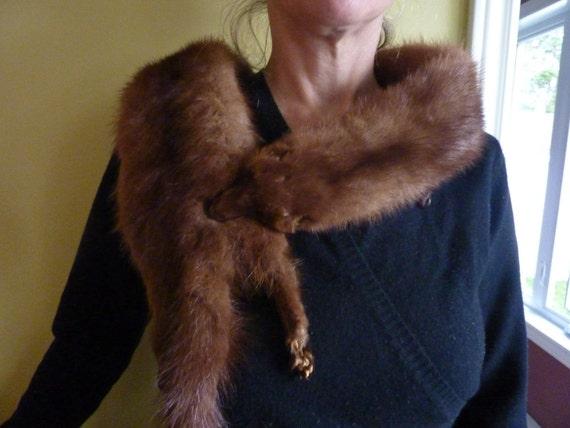 Real  Vintage  Mink Fur Collar