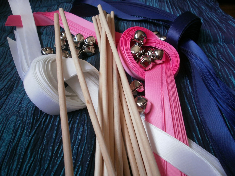 Diy bride 100 ribbon wands wedding wands lace wands send off for Wedding wands