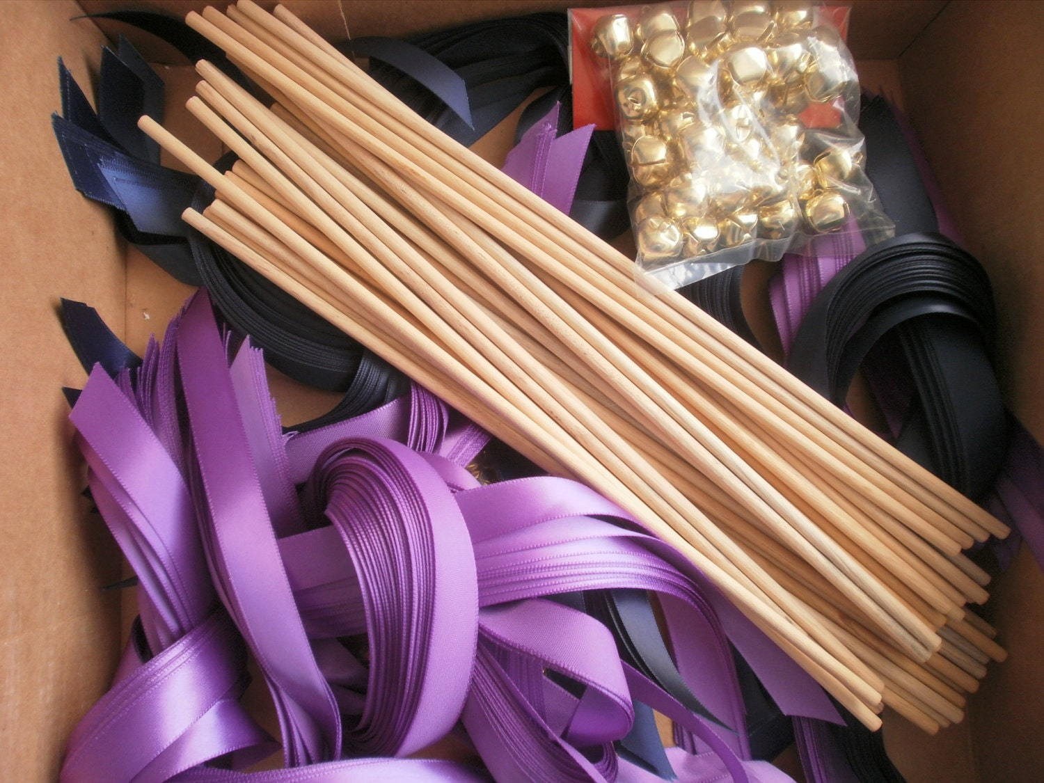 Diy bride 75 satin ribbon wands lace wands wedding wands for Wand making kit