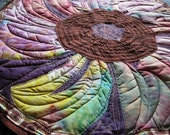 Reserved for Katie: Quilted Table Topper - Glory of Morning Flower