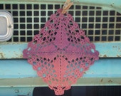 Hand Dyed Vintage Doily