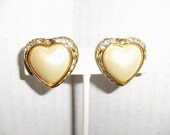 Gorgeous Jone Rivers Clip back Heart Earrings Free USA Ship