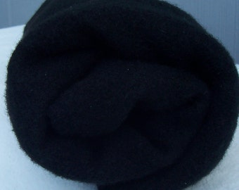 black felted/fulled blanket weight Pendleton wool fabric
