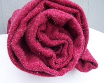 Raspberry red felted wool