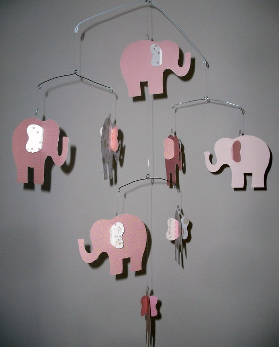 pink elephant mobile