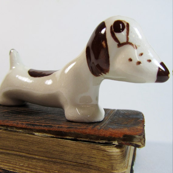 Vintage Funny Little Dachshund Dog Figurine