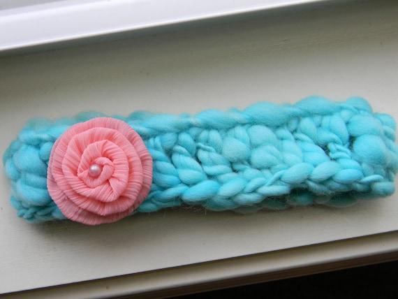 Handspun Merino Wool Baby Headband or Headwrap--Photography Prop--Newborn Girl