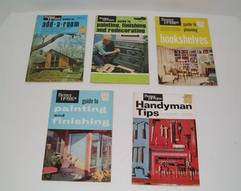 """Vintage Set of Better Homes and Garden """"How To"""" Booklets - Set of 5 Booklets"""