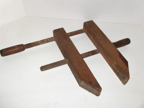 Vintage Wooden Clamp