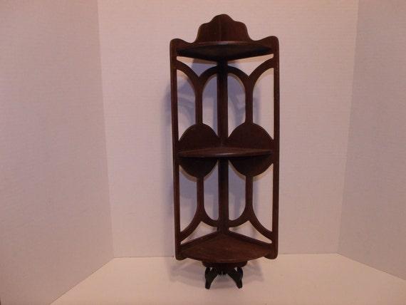 3 Tiered Wood Corner Shelf
