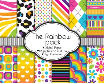 The Rainbow Pack - Digital paper set