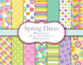 Spring Dress - Digital paper set