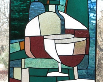 Stained Glass Panel - Lean on Me 2