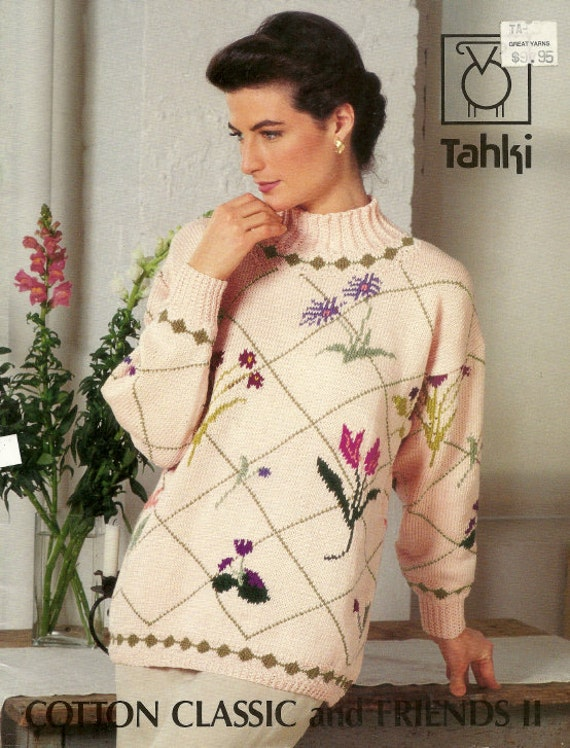 Knitting Pattern Booklet Tahki Cotten Classic and Friends II