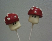 Super Mario Mushroom Marshmallows handmade by Sprinkles Candy Cake Oh My on Etsy