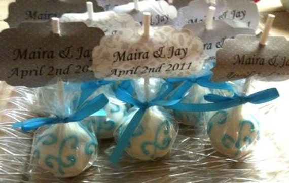 Wedding Favor Cake Pops handmade by Sprinkles Candy Cake Oh My on Etsy