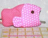 fishly key chain (pink)