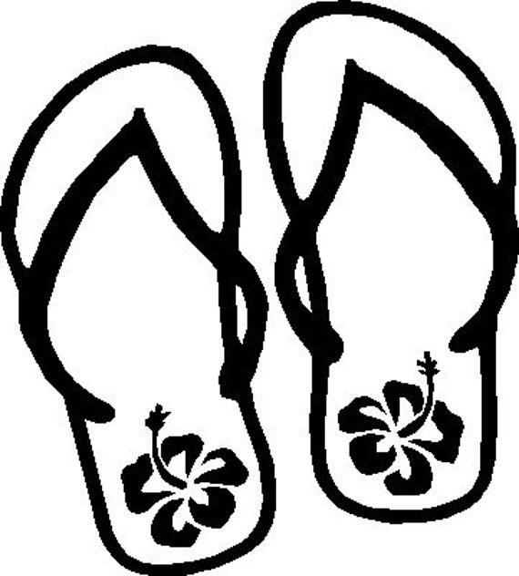 Coloring Book Vinyl : Items similar to Flip Flop Vinyl Decal on Etsy