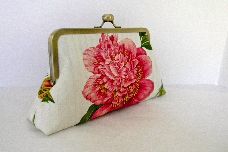 Pink Floral Wedding Clutch Bridal Clutch By AnOrangeBlossomBag