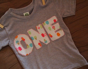 Girls Birthday Shirt Ice Cream Organic Blend Tee