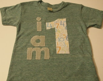 I AM 1 Birthday Tee Organic Shirt Blend boys girls birthday shirt first birthday second etc houndstooth numbers