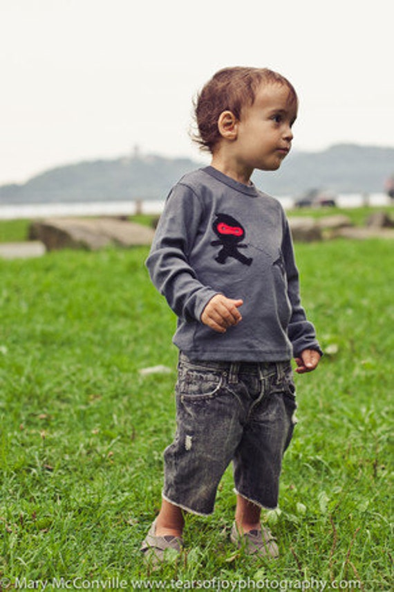 Boys long sleeve Ninja Shirt available for infants and toddlers