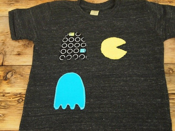 Pacman Shirt Organic Blend Boys and Girls Shirt Retro Gamer Tee Available for infants and toddlers Ready to Ship