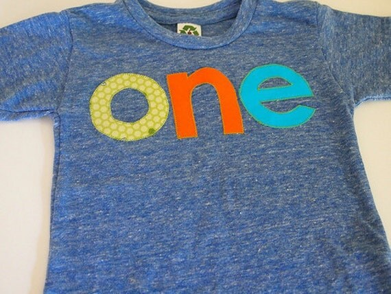 Lime green orange and blue Birthday Tee Organic Blend Colorful Birthday Shirt first birthday Ready to Ship size 12/18 months