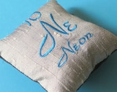Neon Periodic Table of Elements Pillow