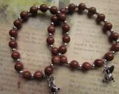 Brown Goldstone Bunny Bracelet