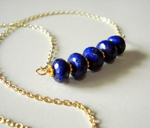 CYBER SALE - So Blue - Lapis Lazuli & Gold Vermeil Necklace